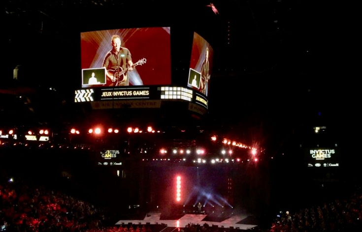 Bruce Springsteen at the Invictus Games Closing