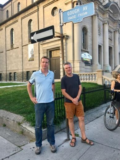 Greg and Mark on the Danforth, Toronto