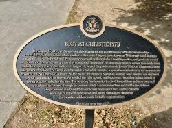 Riot in 1933 plaque